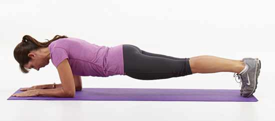 Forward plank exercise
