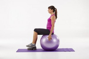 Seated Ball Knee Lifts