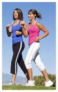 Brisk walking weight bearing exercise