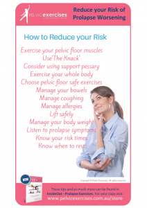 Reduce your risk of prolapse worsening