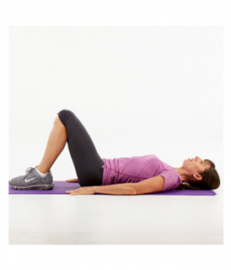 Lying down pelvic floor exercises