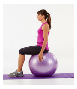 Seated pelvic floor exercises