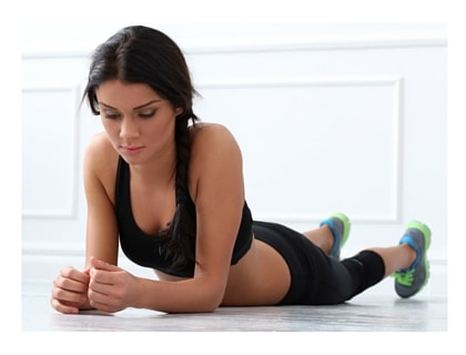Pelvic floor exercises position
