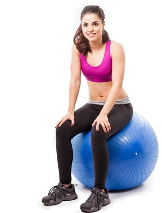 Pelvic floor exercises sitting