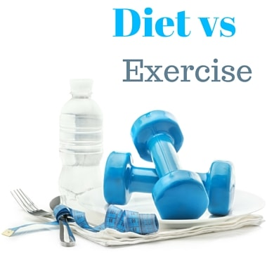 Diet versus exercise