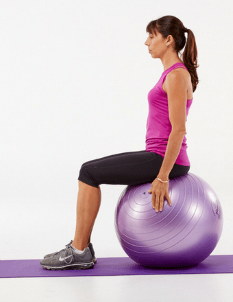 Seated core strengthening exercises