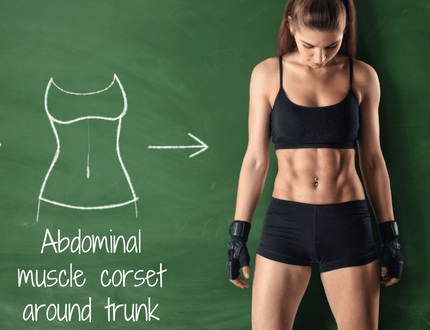 Abdominal muscle corset