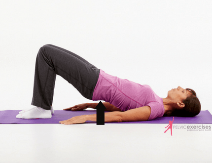 Bridge exercise for lower back pain after hysterectomy