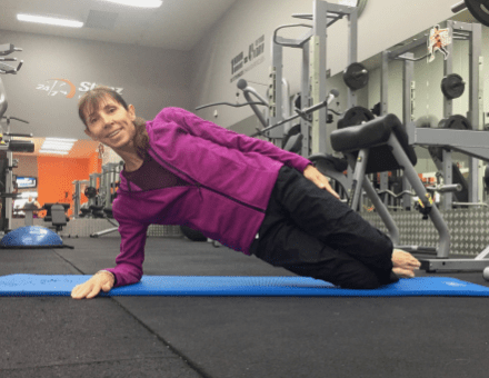 Side Plank Kneeling Exercise