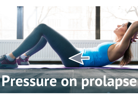 Abdominal curl exercise and prolapse