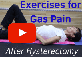 Gas pain after hysterectomy